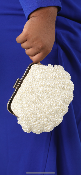 CLUTCH HANDMADE PEARL GRANDE TAILLE