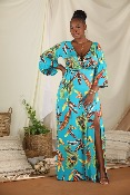 ROBE SHEERY TROPICAL GRANDE TAILLE